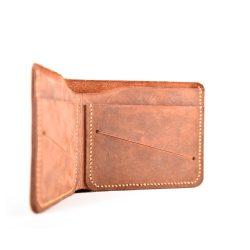 Pánská peněženka z pravé kůže v hnědé barvě