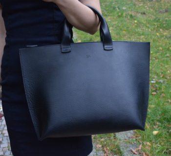 Velká kožená kabelka - česká ruční výroba