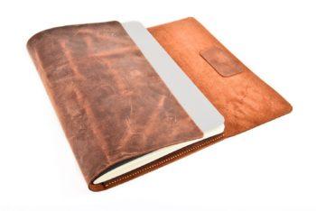 Obal na zápisník z prémiové usně s broušeným povrchem