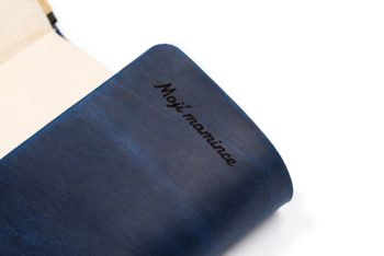 Kožený obal na knihu A5 univerzální - s věnováním