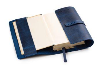 Kožený obal na knihu A5 univerzální - ruční výroba v Česku