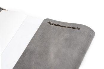 Prémiový obal na knihu A5 s věnovnáním - česká ruční výroba