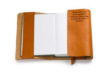 Prémiový obal na knihu A5 - s citátem
