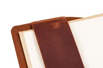 Kožený obal na knihu A5 - univerzální velikost, česká ruční výroba