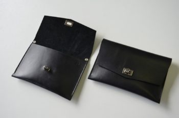Výroba luxusního koženého psaníčka s podšívkou