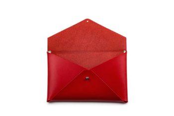 Červené psaníčko z exkluzivní italské třísločiněné kůže