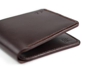 Pánská peněženka z pravé kůže v tmavě hnědé barvě