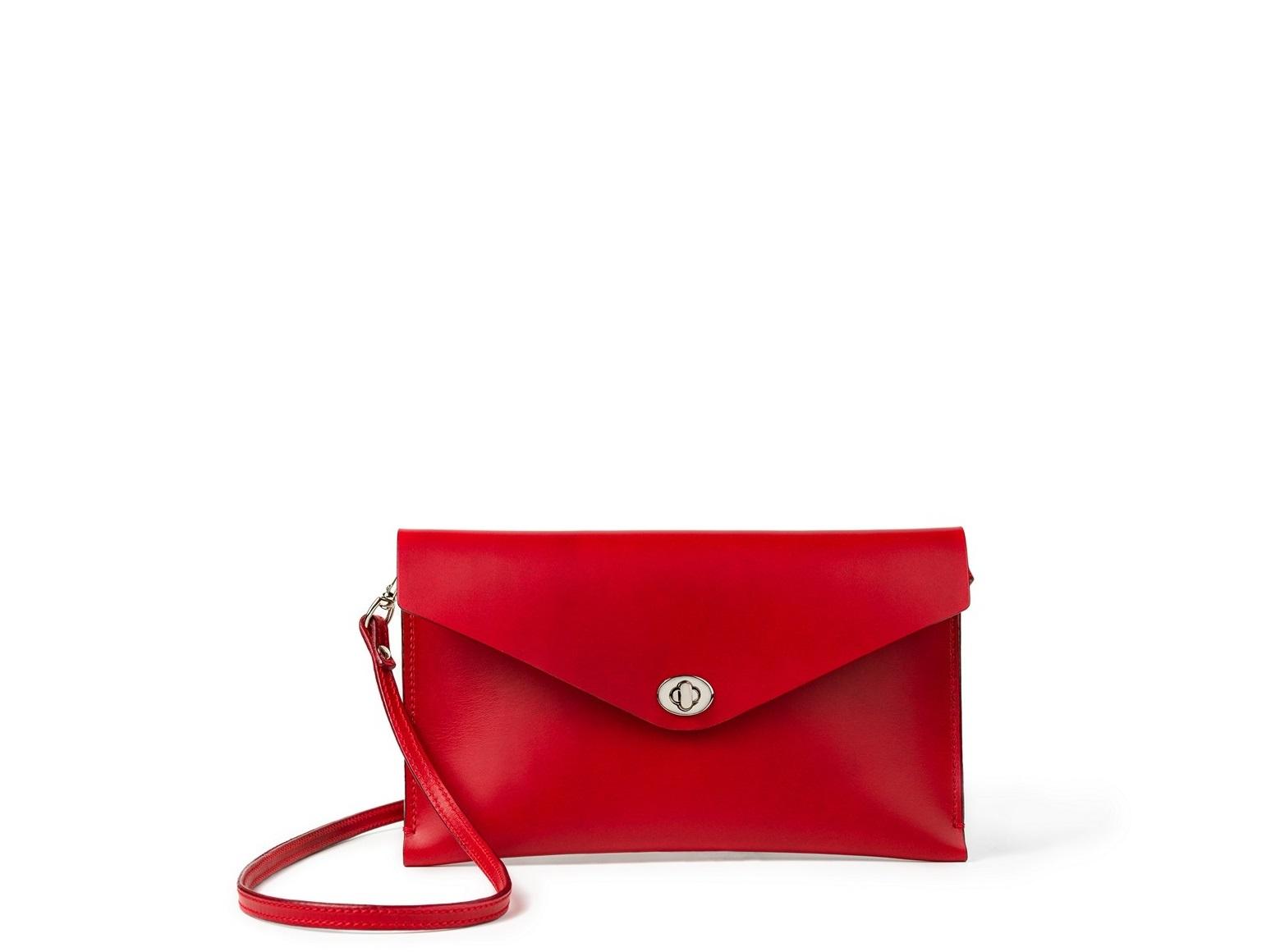 Malá kabelka z vysoce kvalitní italské usně, s koženým řemínkem